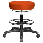 Perch Chairs and Stools Height Adjustable Medical Stool with Foot Ring; Orange Kist Vinyl