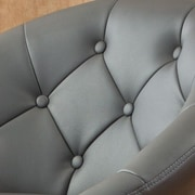 Roundhill Furniture Noas Contemporary Tufted Back Tilt Swivel Barrel Chair; Gray
