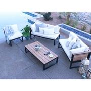 Home Loft Concepts 4 Piece Deep Seating Group w/ Cushion