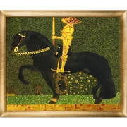 Tori Home 'The Golden Knight' by Gustav Klimt Framed Original Painting on Wrapped Canvas