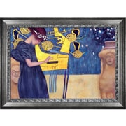 Tori Home 'Musik 1895' by Gustav Klimt Framed Original Painting on Wrapped Canvas