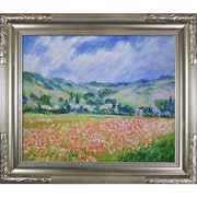 Tori Home Poppy Field Near Giverny by Monet Framed Hand Painted Oil on Canvas