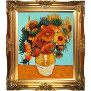 Tori Home Sunflower Collage (Artist Interpretation) by Van Gogh Framed Hand Painted Oil on Canvas