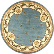 KAS Rugs Jewel Wedgewood Blue Fleur-De-Lis Outdoor Area Rug; Round 7'9''