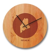 Richwood Creations 15'' Louisiane City and State Cherry Wall Clock