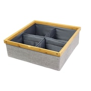 KTW Products Twill Stackable Closet Storage Tray