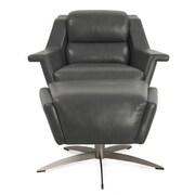 Hokku Designs Kaato Full Top Grain Leather Lounge Chair
