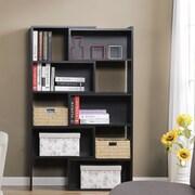 Homestar 59'' Accent Shelves Bookcase; Espresso