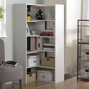 Homestar 59'' Corner Unit Bookcase; White