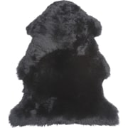 Fibre by Auskin Single Pelt Black Area Rug