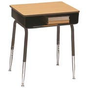 Scholar Craft 2900 Series Laminate Adjustable Height Open Front Desk (Set of 2); Taupe