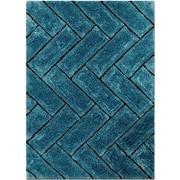 AllStar Rugs Hand-Tufted Sky Blue Area Rug; 5' x 7'