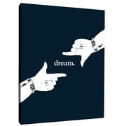 SafiyaJamila Dream Motivational Graphic Art on Wrapped Canvas in Black; 20'' H x 16'' W x 1.5'' D