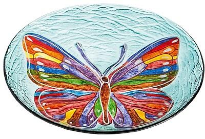 Evergreen Enterprises, Inc Butterfly Petal Birdbath WYF078278308794
