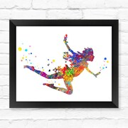 Dignovel Studios Peter Pan Contemporary Watercolor Framed Graphic Art; 12'' H x 15'' W x 1'' D