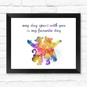 Dignovel Studios Winnie the Pooh and Tigger Watercolor Framed Graphic Art; 12'' H x 15'' W x 1'' D