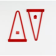 Tronk Design Adams Shelf Bracket (Set of 2); Red