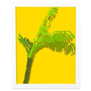 SafiyaJamila Island Life I Framed Graphic Art in Yellow and Green; 20'' H x 16'' W  x 1'' D