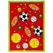 AllStar Rugs Red Area Rug; 3'3'' x 4'10''