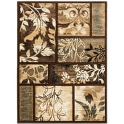 AllStar Rugs Floral Print Chocolate Area Rug; 5'2'' x 7'2''
