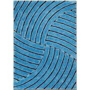 AllStar Rugs Hand-Tufted Sky Blue Area Rug; 7'6'' x 10'5''