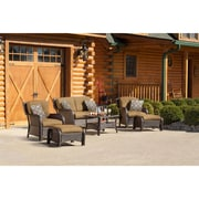 Hanover Strathmere 6 Piece Deep Seating Group with Cushion; Country Cork