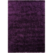 AllStar Rugs Hand-Knotted Dark Purple Area Rug; 5' x 7'