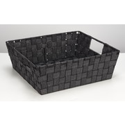 Simplify Large Shelf Tote, Black/Silver (26243-BLK-SILVE)