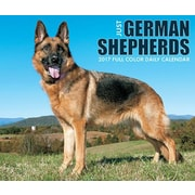 "Willow Creek Press 2017 Just German Shepherds Box Calendar 5.25""H x 6.19""W (42619)"