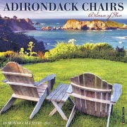 "Willow Creek Press 2017 Adirondack Chairs Wall Calendar 12""H x 12""W (40042)"