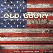 "Willow Creek Press 2017 Old Glory Wall Calendar 12""H x 12""W (41575)"