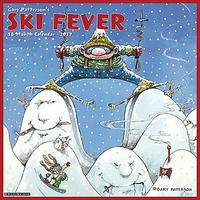 """""Willow Creek Press 2017 Ski Fever (Gary Patterson) Wall Calendar 12""""""""H x 12""""""""W (41988)"""""" 2398622"