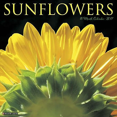 """""Willow Creek Press 2017 Sunflowers Wall Calendar 12""""""""H x 12""""""""W (42039)"""""" 2398617"