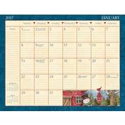 LANG Heart & Home 2017 Desk Pad Calendar (17991010022)