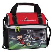 Louis Garneau Soccer Dome Lunch Box, Black, Red and White (1605302)