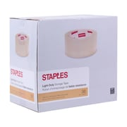 Staples® Light Duty Packaging Tape, 48 mm x 50 m, 2-mil, Clear, 36-Pack