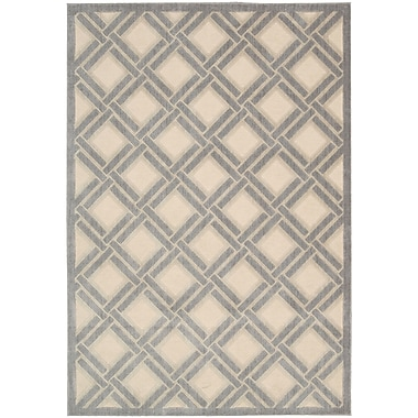 Nourison Graphic Illusions Ivory Geometric Area Rug; 2'3'' x 3'9''