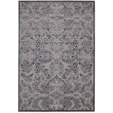 Nourison Graphic Illusions Black/Gray Geometric Area Rug; 3'6'' x 5'6''