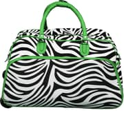 World Traveler Zebra 21'' 2 Wheeled Duffel; Green
