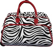 World Traveler Zebra 21'' 2 Wheeled Duffel; Red