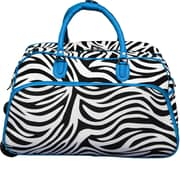 World Traveler Zebra 21'' 2 Wheeled Duffel; Blue
