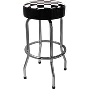 On The Edge Marketing Checker Flag 30.5'' Bar Stool