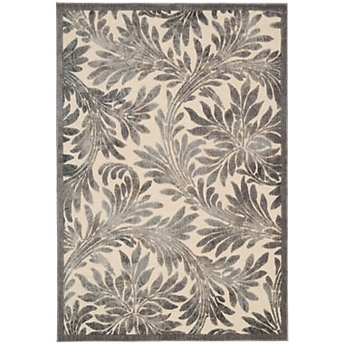 Nourison Graphic Illusions White Plants Area Rug; 2'3'' x 3'9''
