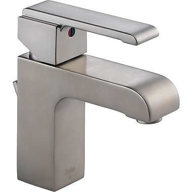 Delta Arzo Series Single Hole Bathroom Faucet w/ Single Handle; Brilliance Stainless