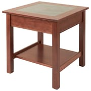 Manchester Wood Slate Top End Table; Chestnut