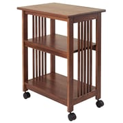 Manchester Wood Mission Microwave Cart; Chestnut