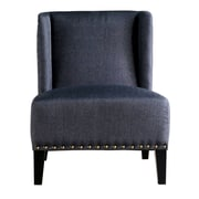 Rissanti Piedmont Lucca Wing Back Side Chair; Charcoal