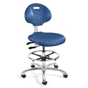 BEVCO Everlast Mid-Back Task Chair with Mushroom Glides; Blue
