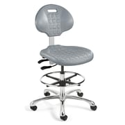 BEVCO Everlast Mid-Back Task Chair with Mushroom Glides; Gray