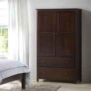 Grain Wood Furniture Shaker Armoire; Cherry